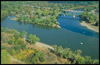 Confluence of Sacramento and American Rivers